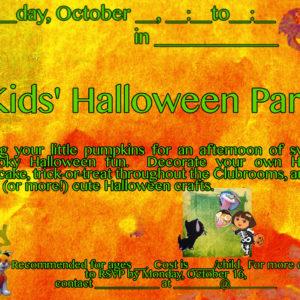 Kid's Halloween Party!
