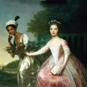 Portrait of Dido Elizabeth Belle Lindsay (1761-1804) and her cousin Lady Elizabeth Murray (1760-1825).