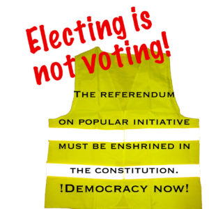 Electing is not voting