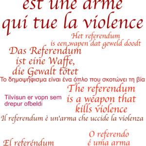 Le référendum est une arme qui tue la violence