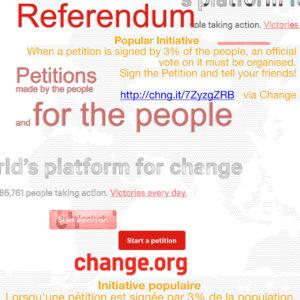 Pétition à l'ONU pour le Referendum D'Initiative Citoyenne