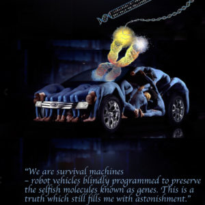 We are just vehicules to ensure the gene's immortality