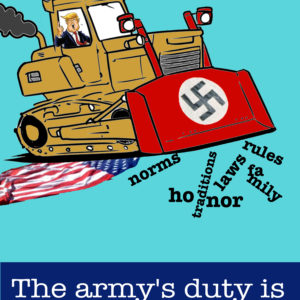 The army's duty is to stop this fascist